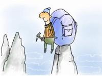 Альпинисты весь день сидят в палатке…